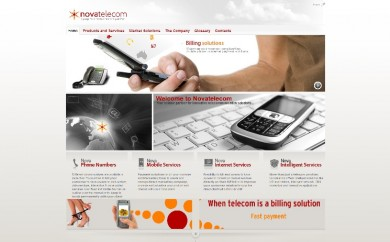 Novatelecom, ejemplo de web bajo Anternet