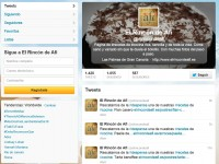 Página de Twitter de El Rincón de Afi