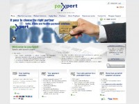 Payxpert, ejemplo de web bajo Anternet