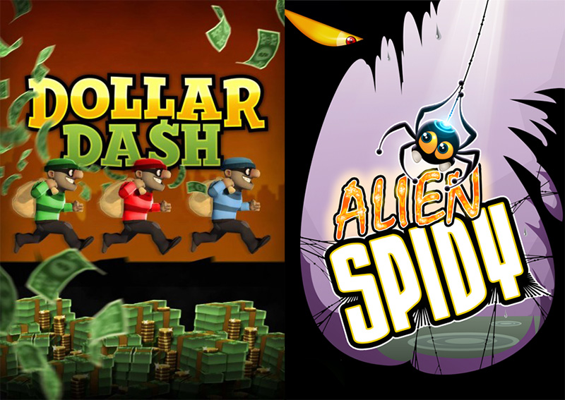 Alien Spidy y Dollar Dash