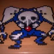 Ángel de Evangelion hecho de hama beads