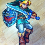 Link de The Legend of Zelda hecho de hama beads